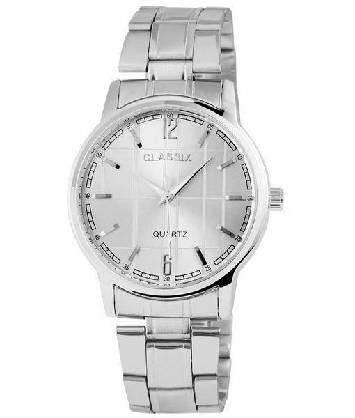 Pánské kovové hodinky Classix stříbrné