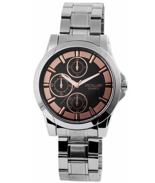 Pánské kovové hodinky Excellanc stříbrné Gold