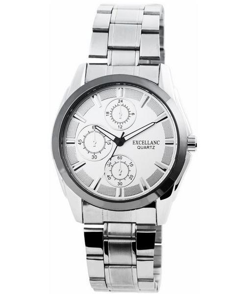 Pánské kovové hodinky Excellanc stříbrné Silver