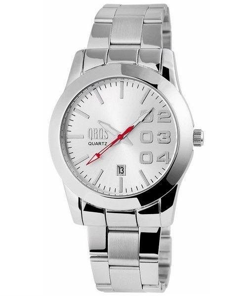 Pánské kovové hodinky QBOS stříbrné