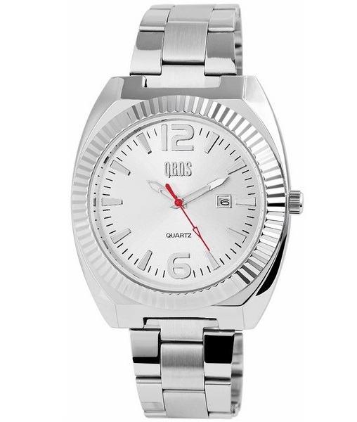 Pánské kovové hodinky QBOS stříbrné Silver