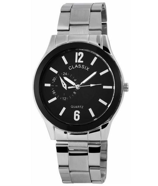 Pánské kovové hodinky Classix stříbrné Black