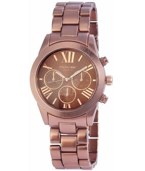 Pánské kovové hodinky Excellanc bronzové