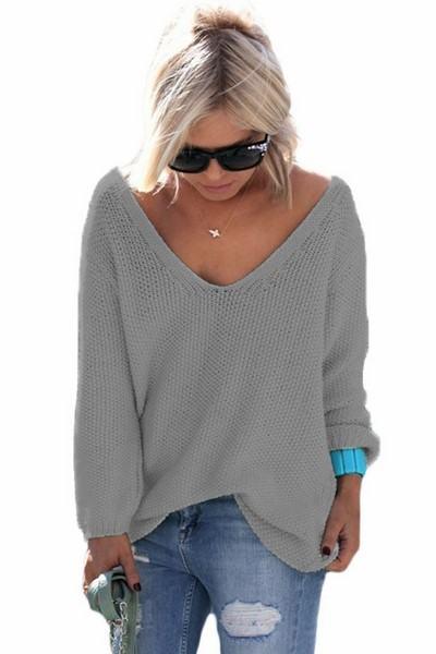 Dámský svetr Elyse - šedý