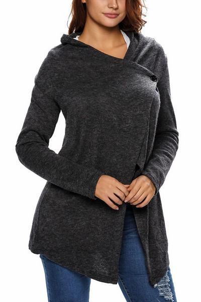 Dámský asymetrický svetr Joelle - černý
