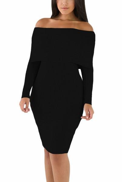 Černé pletené šaty Maliah