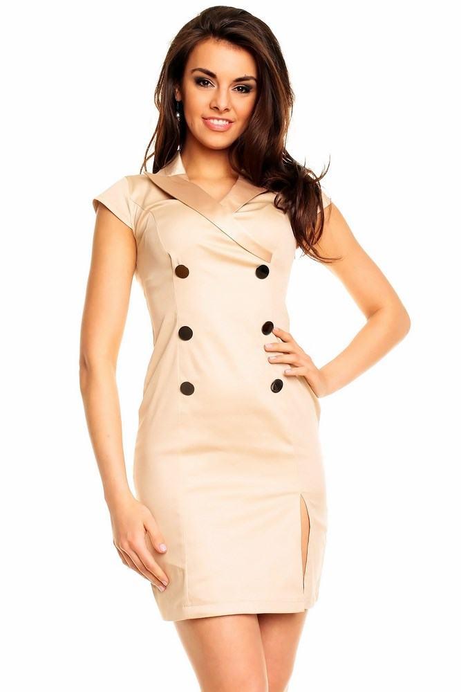 Dámské béžové šaty Nadene