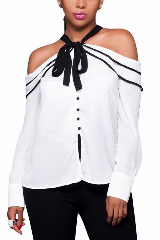 Bílý dámský top Meghan