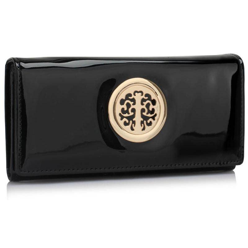 Dámská lakovaná peněženka černá