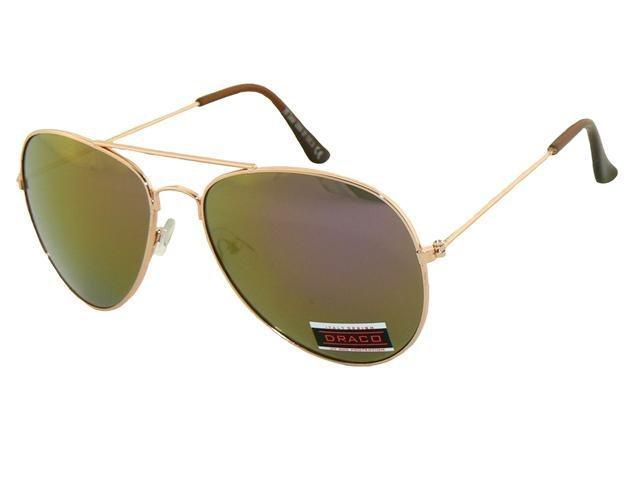 Sluneční brýle AVIATOR - pilotky zlatý kovový rám zlatofialo