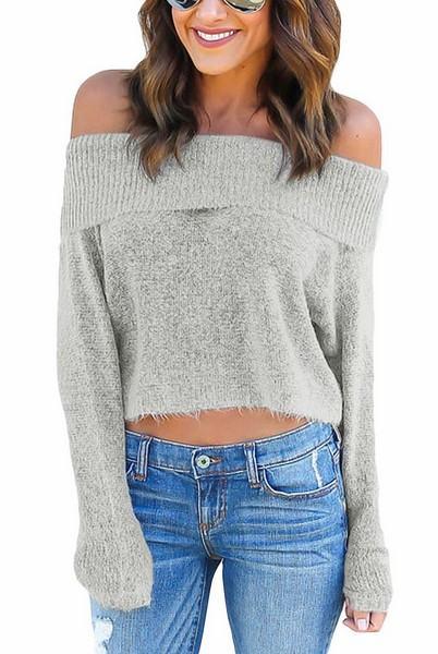 Dámský svetřík Aniya - šedý