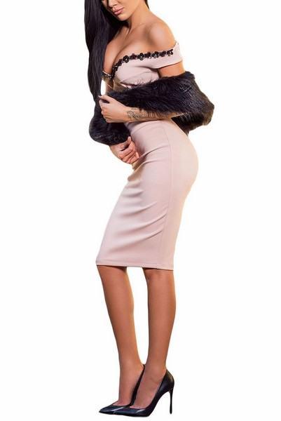 Dámské béžové šaty Agapi