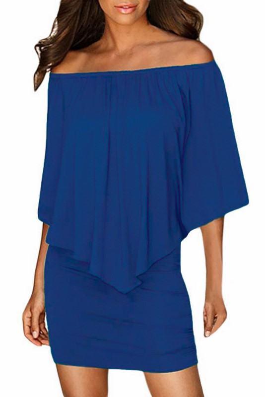 Vrstvené mini šaty Vivien - modré