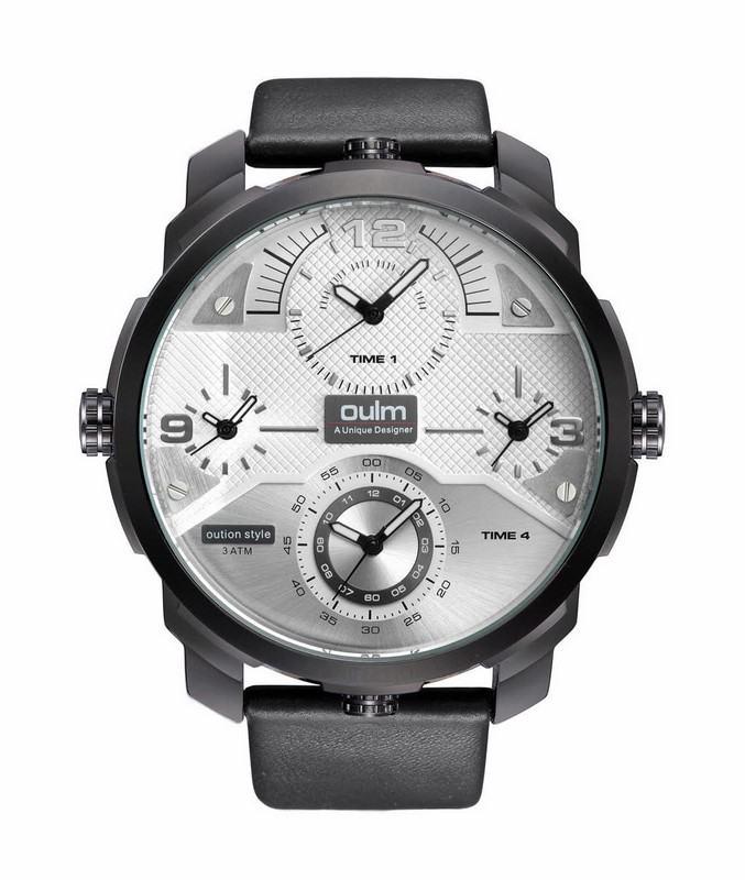 Levně Pánské hodinky Oulm Quad černo bílé
