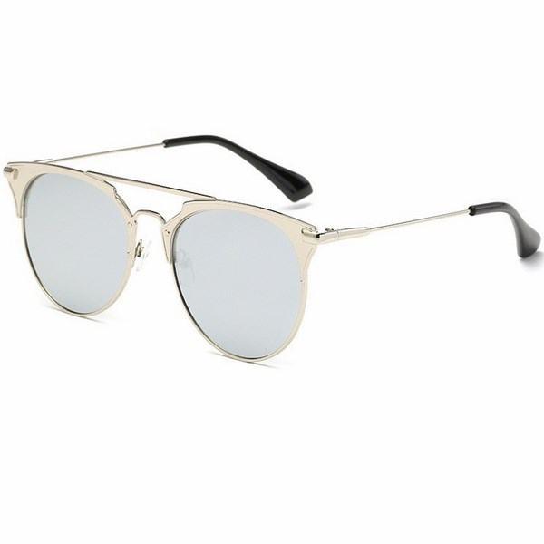 Levně Dámské sluneční brýle Terez stříbrný rám stříbrné skla