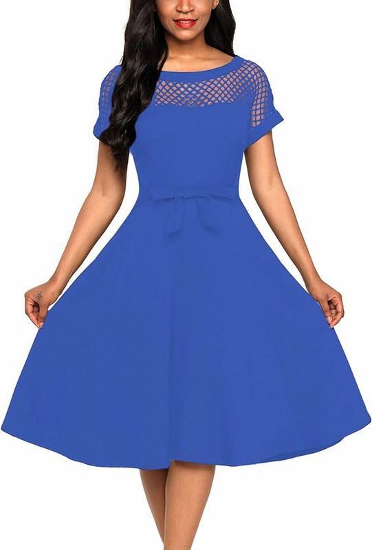 Stylové dámské šaty Evelyn - modré