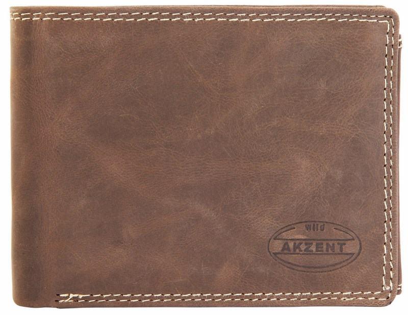 Pánská kožená peněženka - tmavohnědá