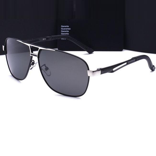 Polarizační sluneční brýle pilotky Luxury - stříbrné černé