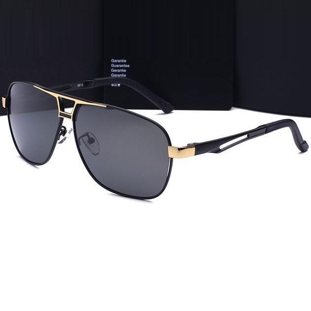 Polarizační sluneční brýle pilotky Luxury - zlaté černé