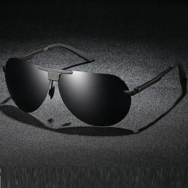 Polarizační sluneční brýle pilotky Wayne celé černé