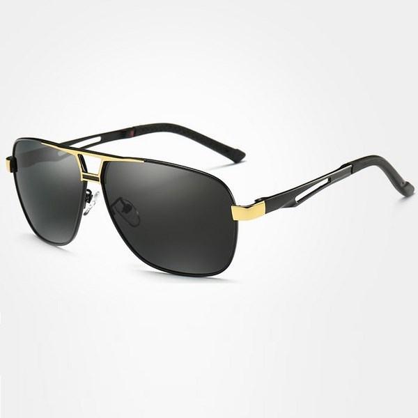 Polarizační sluneční brýle pilotky Mauro zlaté černé