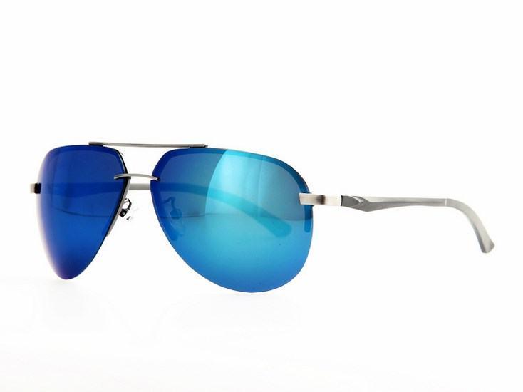 Polarizační sluneční brýle AVIATOR pilotky - stříbrný rám mo
