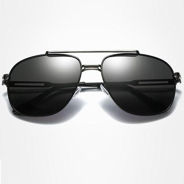 Polarizační sluneční brýle pilotky Andree stříbrné černé