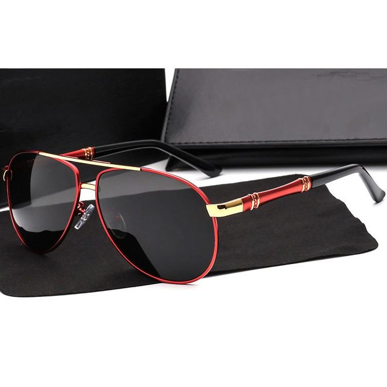 Polarizační sluneční brýle pilotky Zac červené