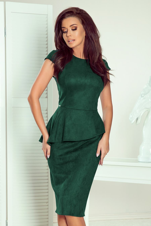 Dámské zelené midi šaty LUCA 192-10