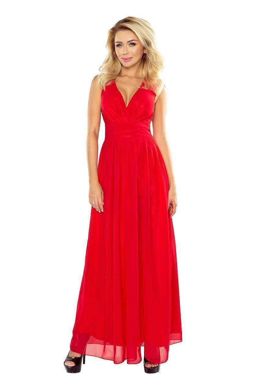 Krásné společenské šaty Bona - červené 166-2