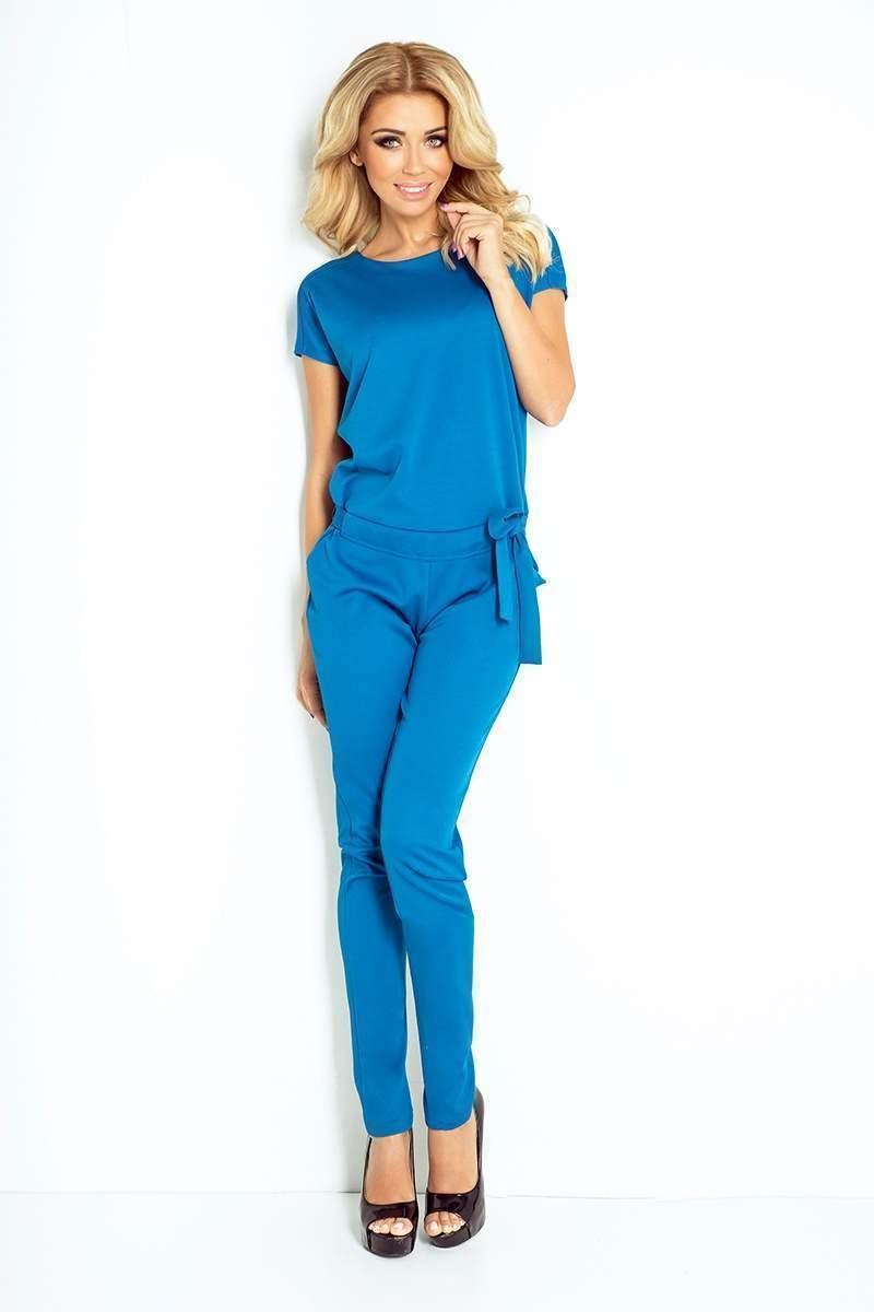 Elegantní dámský overal světle modrý 120-9
