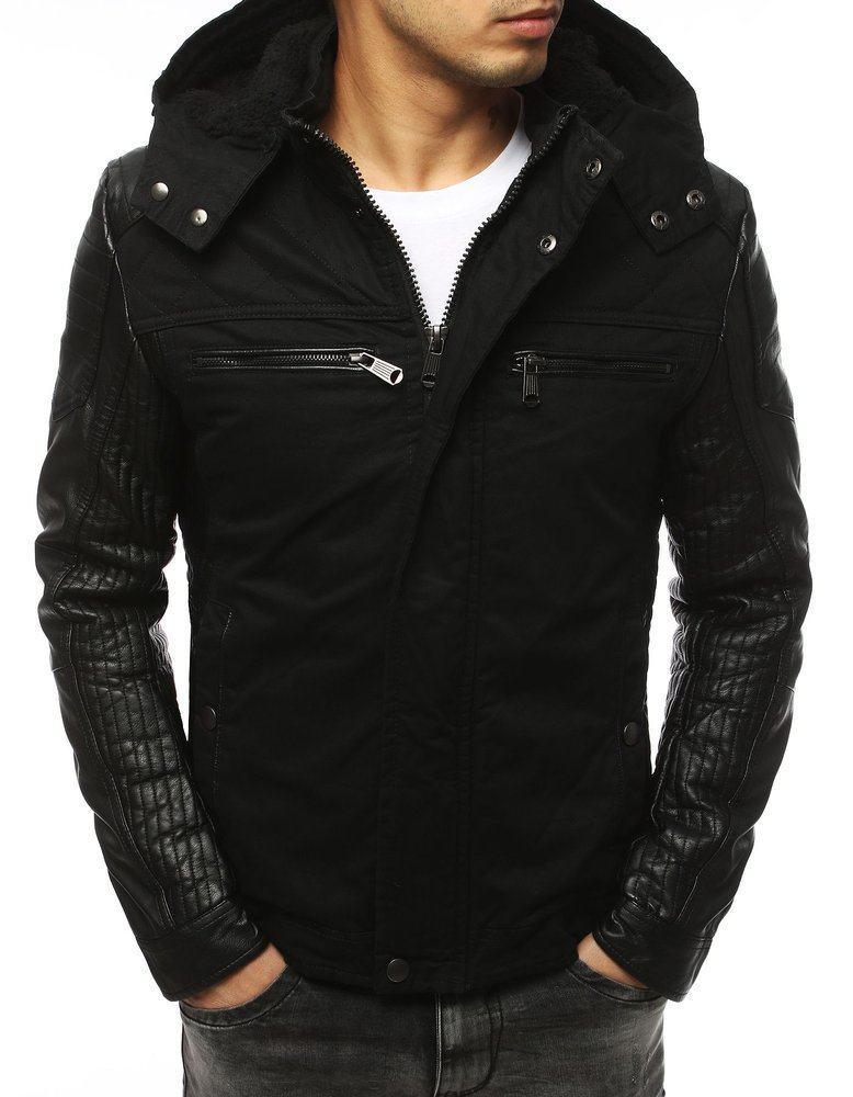 Trendy černá pánská zimní bunda tx3105