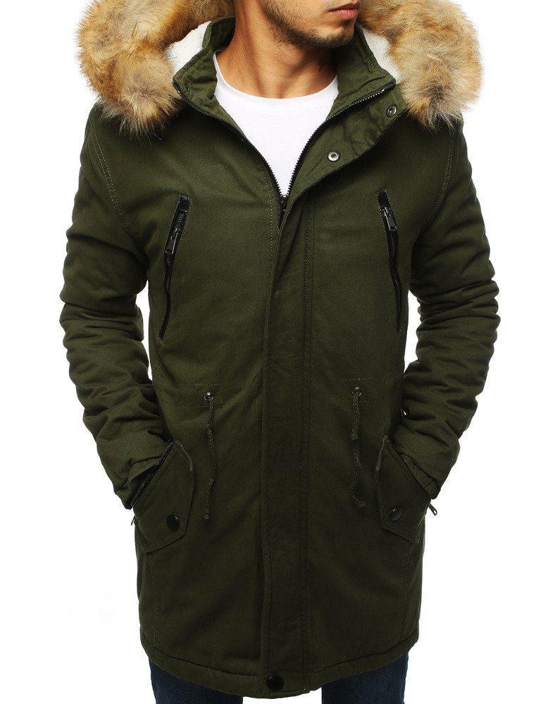 Atraktivní khaki pánská zimní parka tx2893
