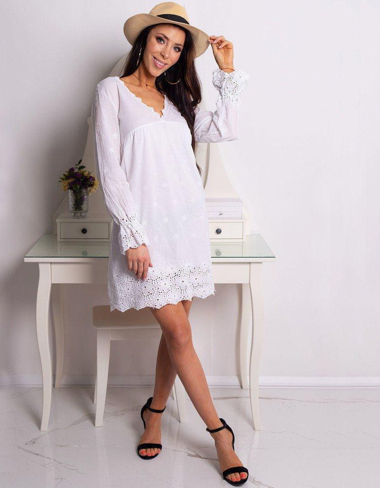 Dámské bílé šaty BELLA ey0749