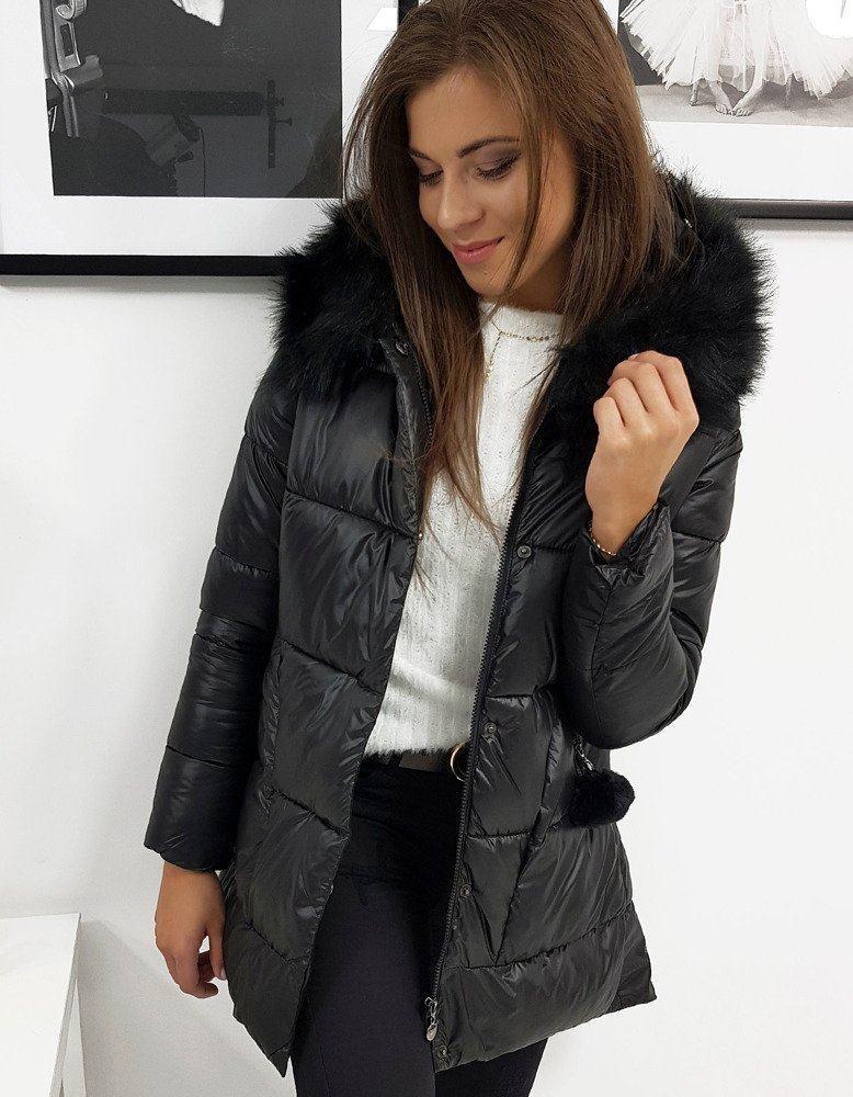 Černá dámská zimní bunda vty0906