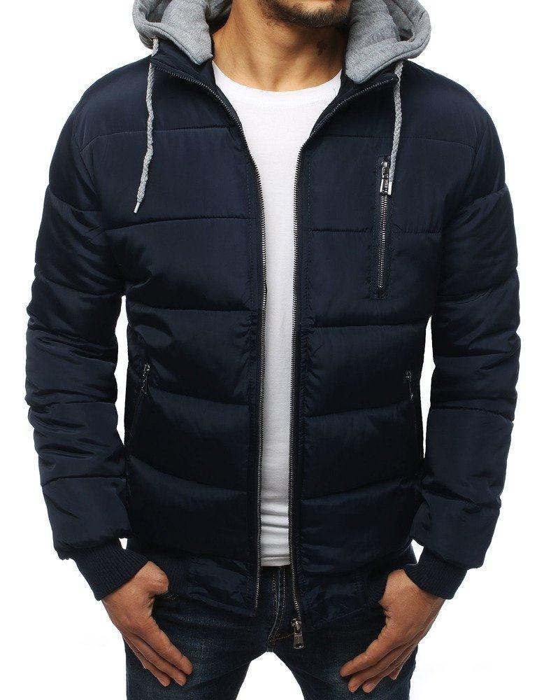 Pánská modrá prošívaná zimní bunda tx3029