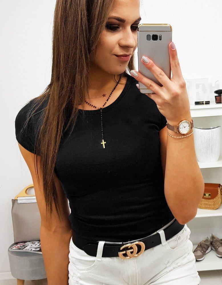 Pohodlné dámské tričko černé ry0744