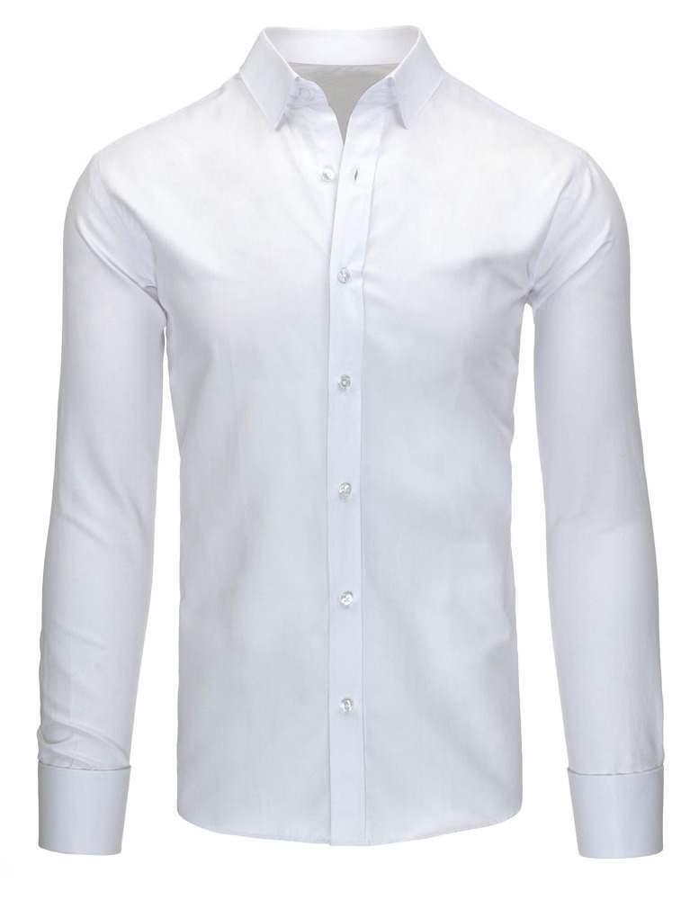 Bílá moderní Slim Fit pánská košile dx1130
