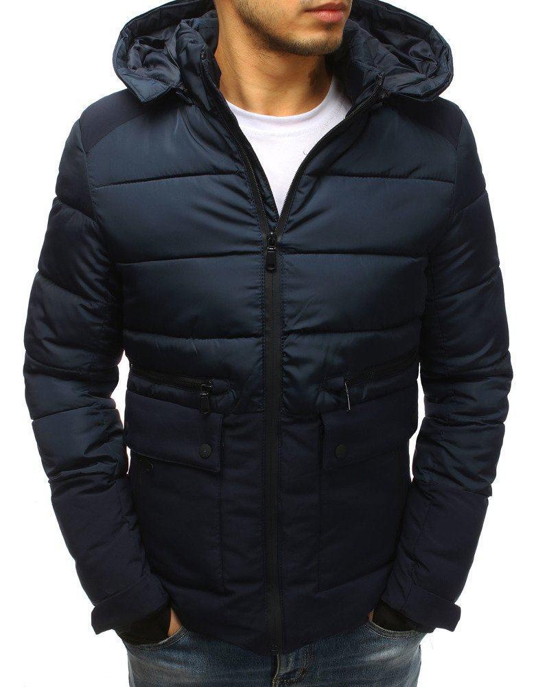 Modrá trendy pánská zimní bunda tx2567