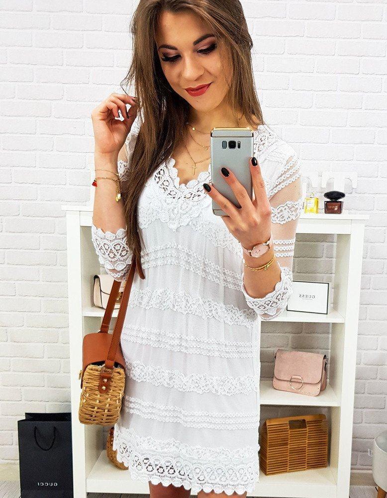 Dámské bílé šaty GABRIELA ey0811